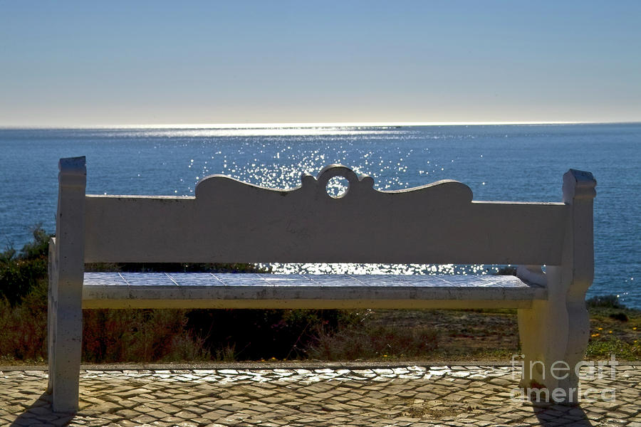 Settee At The Mediterranean Sea Photograph  - Settee At The Mediterranean Sea Fine Art Print