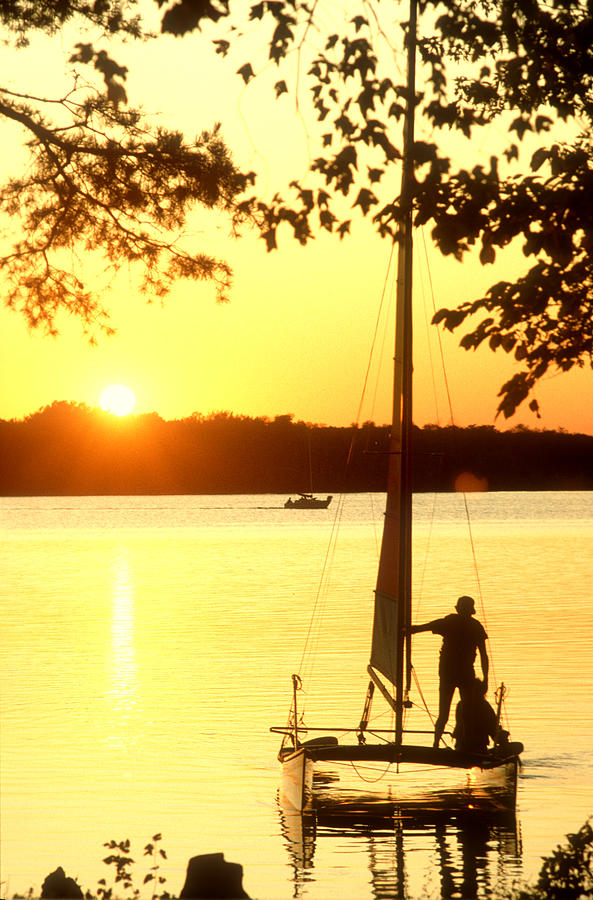 Setting Sail At Sunset Photograph  - Setting Sail At Sunset Fine Art Print