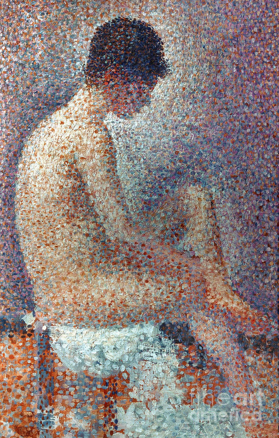 Seurat: Model, 1887 Photograph  - Seurat: Model, 1887 Fine Art Print
