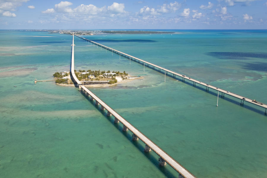 Seven Mile Bridge Crossing Pigeon Key Photograph  - Seven Mile Bridge Crossing Pigeon Key Fine Art Print