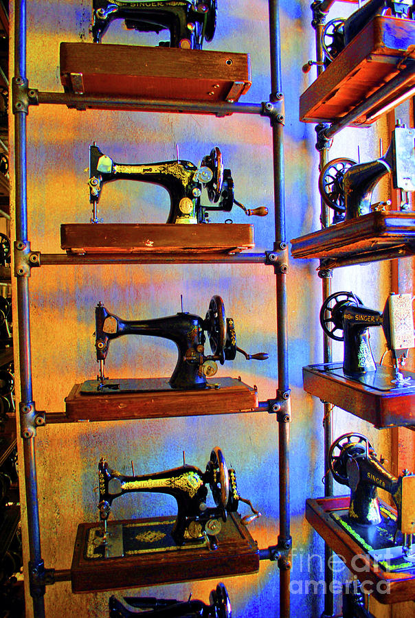 Sewing Machine Retirement Photograph  - Sewing Machine Retirement Fine Art Print