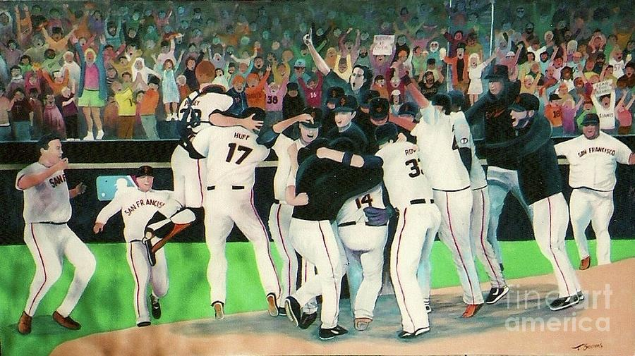 Sf Giants 2010 World Series Championship Celebration Painting  - Sf Giants 2010 World Series Championship Celebration Fine Art Print