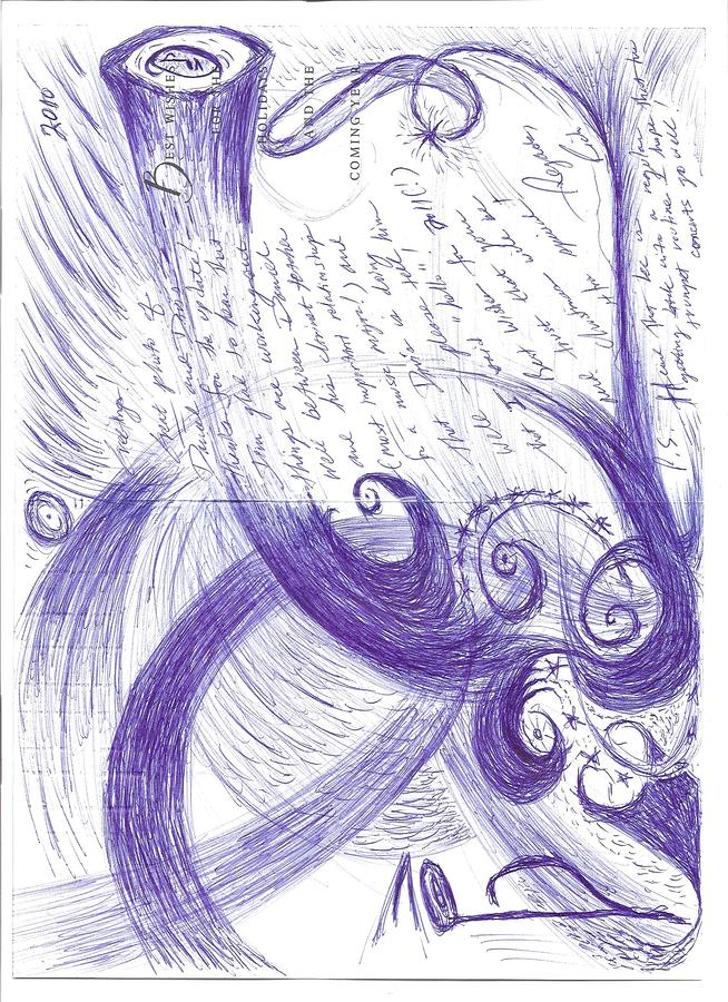 Sfz Image Scan Of A Woodwind Players Mind Moments After The Trumpets Clarion Call.. Drawing