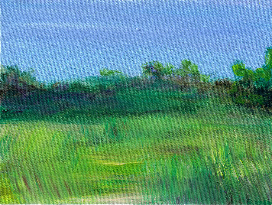 Shaded Meadow Painting  - Shaded Meadow Fine Art Print