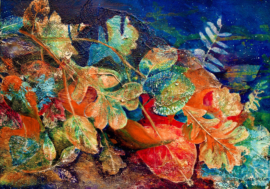 Shades Of Leafin An Imprint Painting