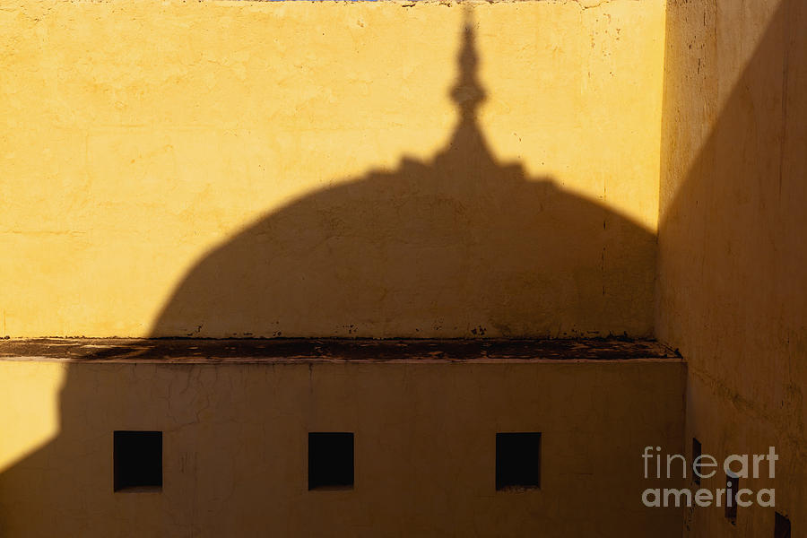 Amber Fort Photograph - Shadow Cast On The Amber Fort by Inti St. Clair