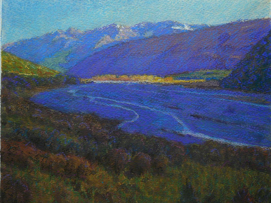 Shadow On The Rees Pastel
