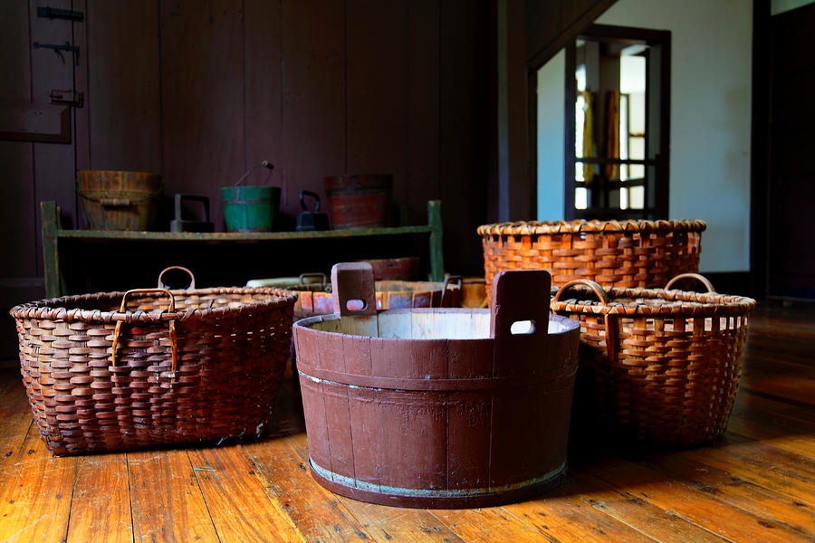 Shaker Baskets Photograph  - Shaker Baskets Fine Art Print