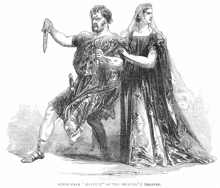 Shakespeare: Macbeth, 1845 Photograph  - Shakespeare: Macbeth, 1845 Fine Art Print