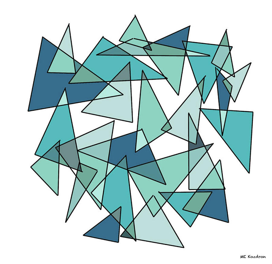 Shards Of Blue Digital Art  - Shards Of Blue Fine Art Print