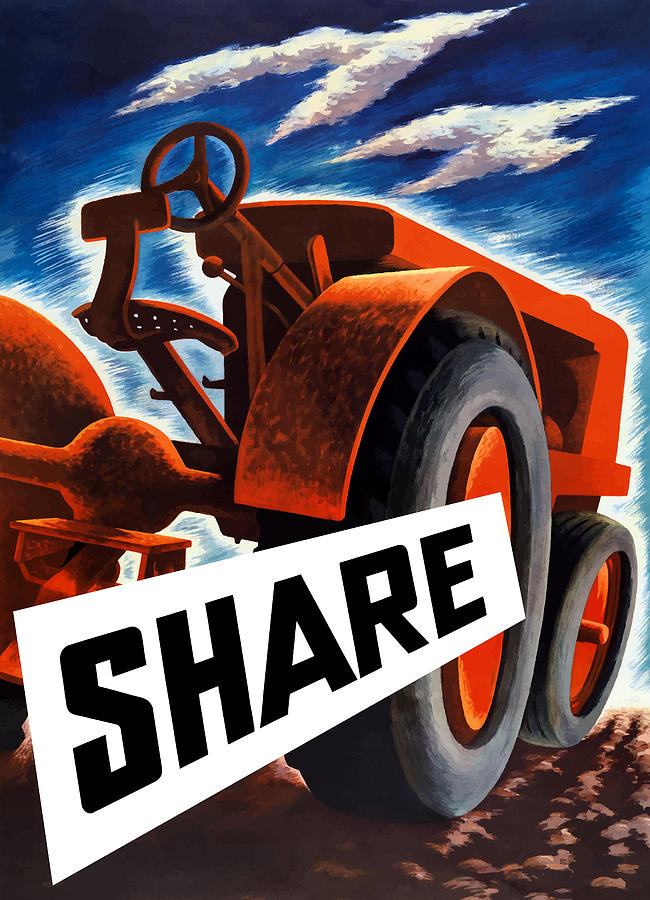 Share Painting  - Share Fine Art Print