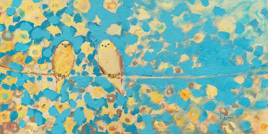 Sharing A Sunny Perch Painting  - Sharing A Sunny Perch Fine Art Print