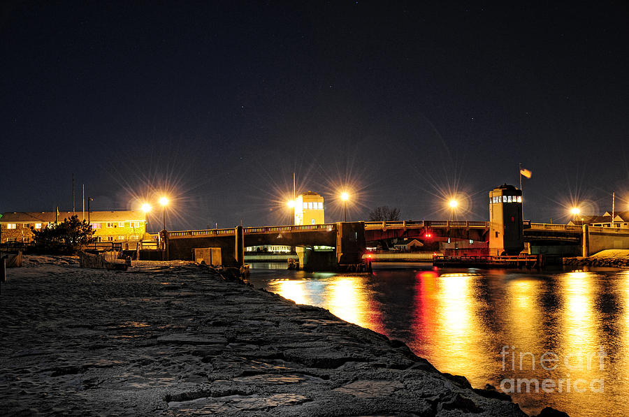 Shark River Inlet At Night Photograph  - Shark River Inlet At Night Fine Art Print