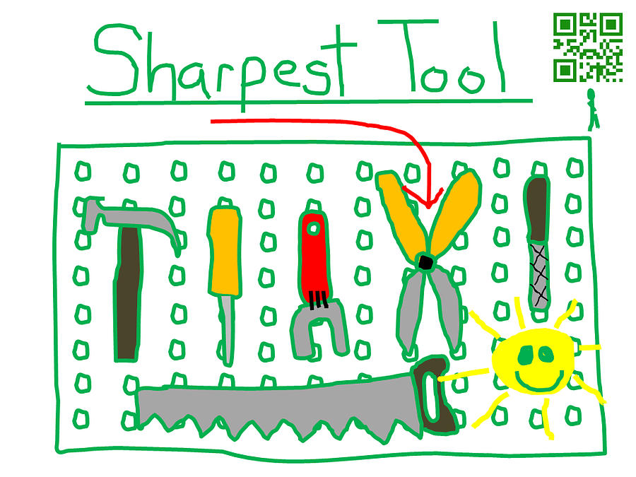 Sharpest Tool In The Shed Digital Art
