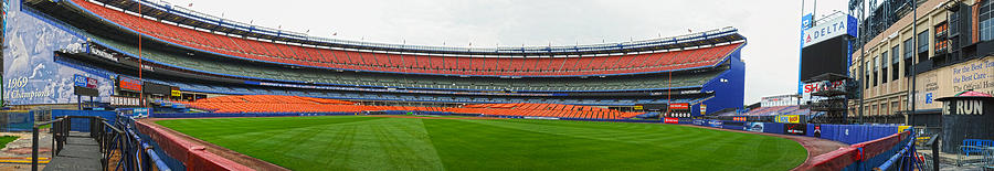 Panoramic Photograph - Shea Stadium Pano by Dennis Clark