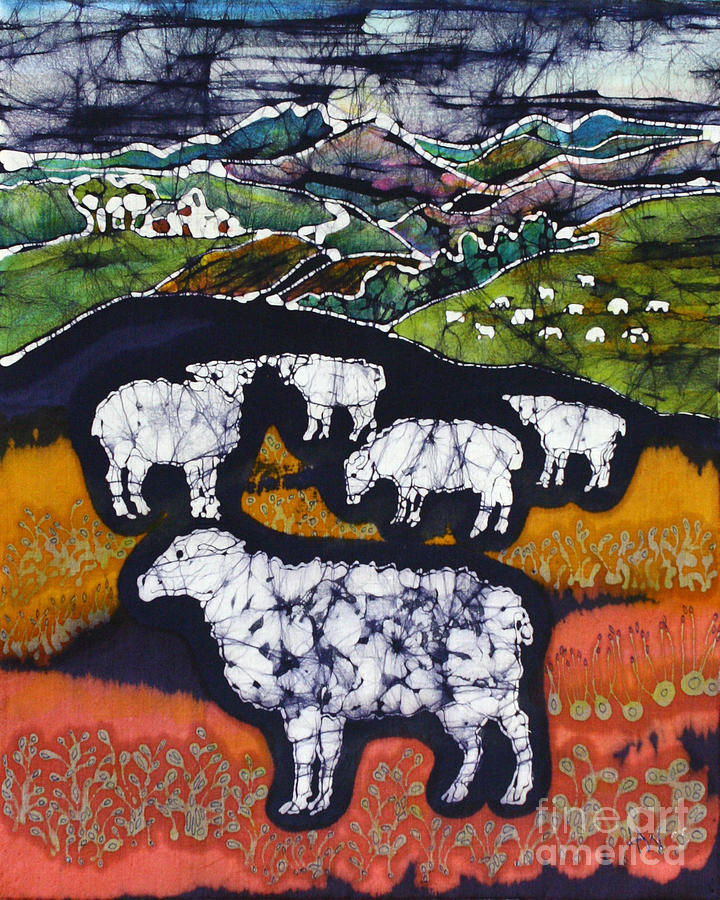 Sheep At Midnight Tapestry - Textile