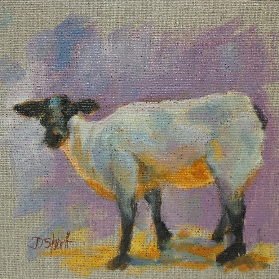 Sheep Faced Painting  - Sheep Faced Fine Art Print