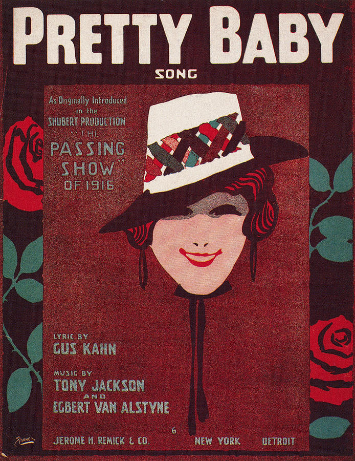 Sheet Music Cover, 1916 Photograph  - Sheet Music Cover, 1916 Fine Art Print