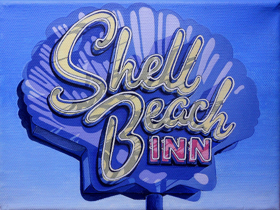 Shell Beach Inn Painting  - Shell Beach Inn Fine Art Print