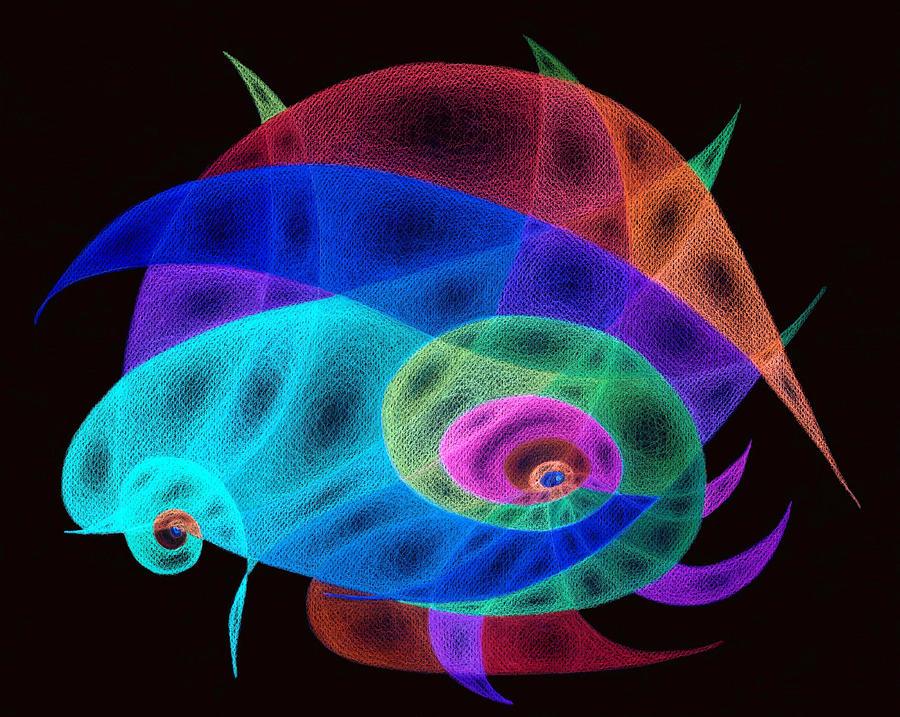 shell inverted colors painting by tatyana zverinskaya