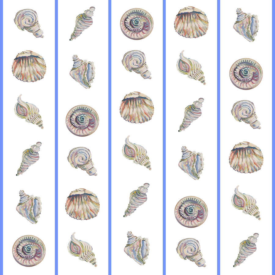 Shell Pattern Painting  - Shell Pattern Fine Art Print