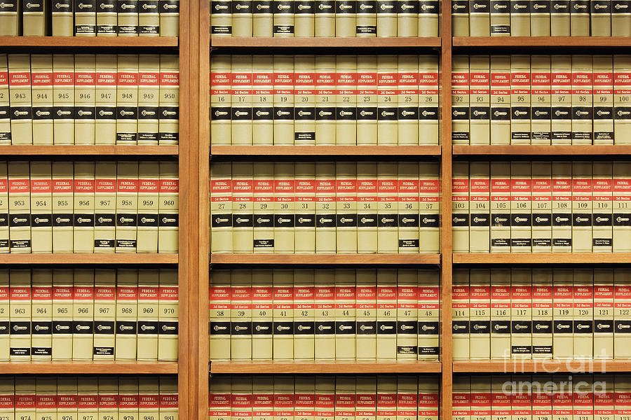 Shelves Of Law Books by Jeremy Woodhouse