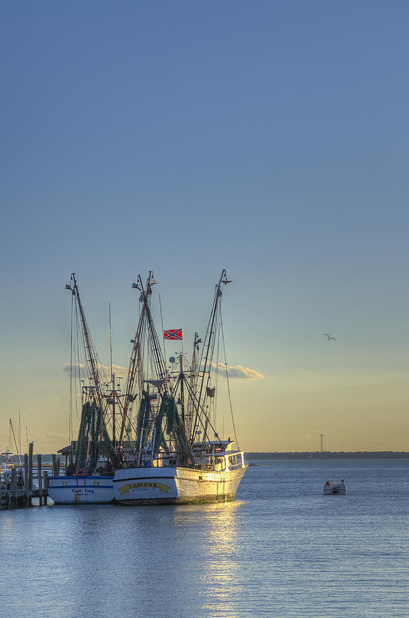 Shem Creek Fishing Boats - Charleston Sc  Photograph