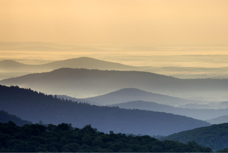 Shenandoah National Park Mountain Scene Photograph