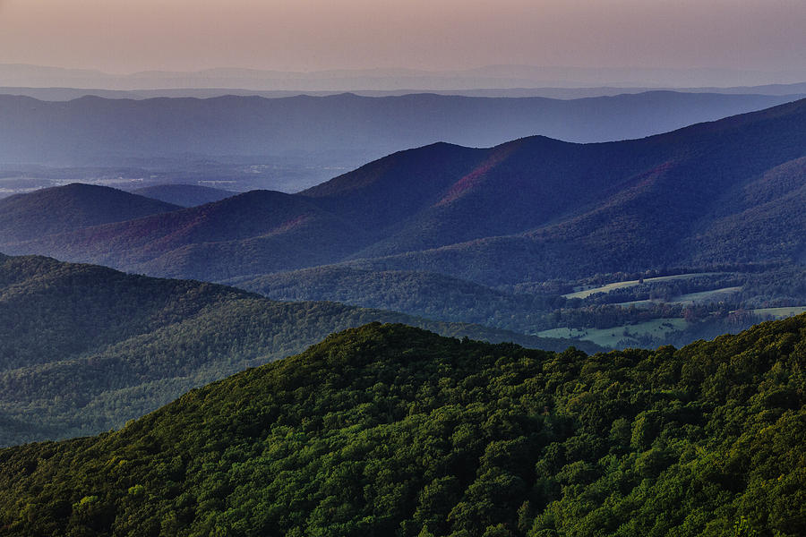 Shenandoah Valley At Sunset Photograph