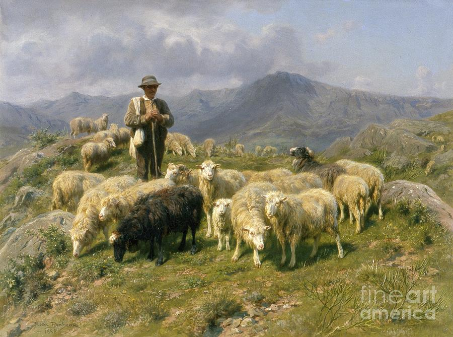Shepherd Of The Pyrenees Painting  - Shepherd Of The Pyrenees Fine Art Print