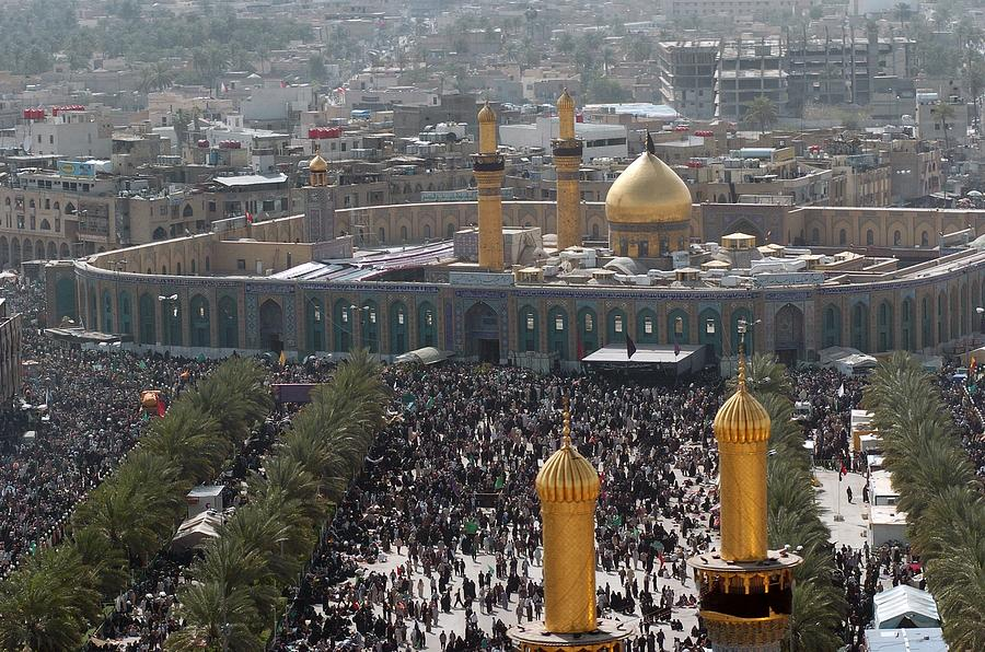 Shia Muslims Around The Husayn Mosque Photograph