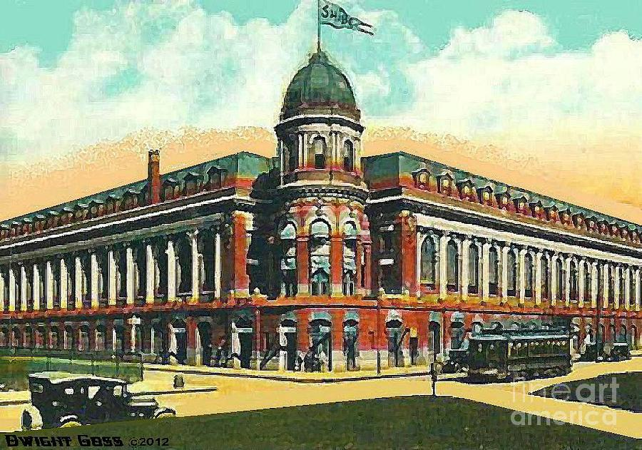 Shibe Park Baseball Stadium In Philadelphia Pa Painting  - Shibe Park Baseball Stadium In Philadelphia Pa Fine Art Print