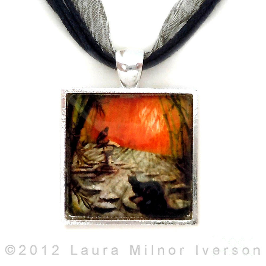 Shinto Lantern At Dusk Pendant Jewelry