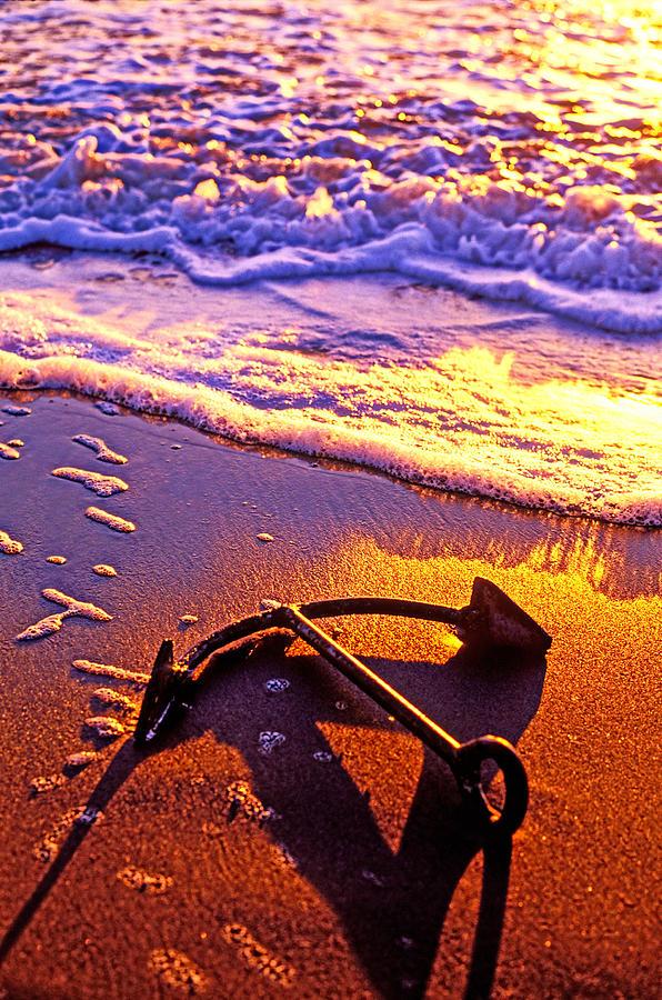Ships Anchor On Beach Photograph