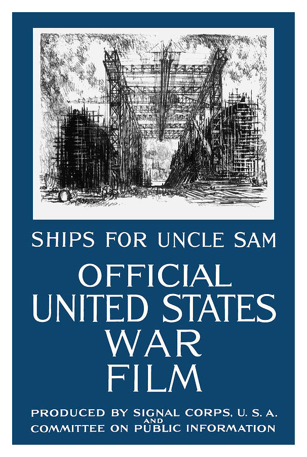 Ships For Uncle Sam Painting
