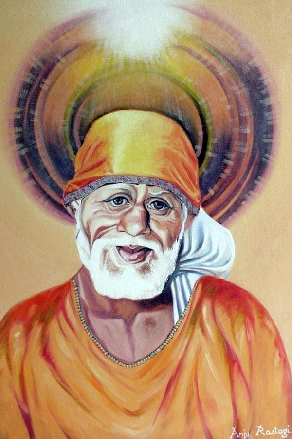 Shirdi Sai Baba Paintings Painting  - Shirdi Sai Baba Paintings Fine Art Print