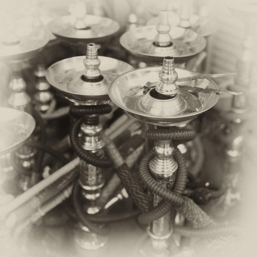 Shisha Pipes In Qatar Retro Photograph  - Shisha Pipes In Qatar Retro Fine Art Print