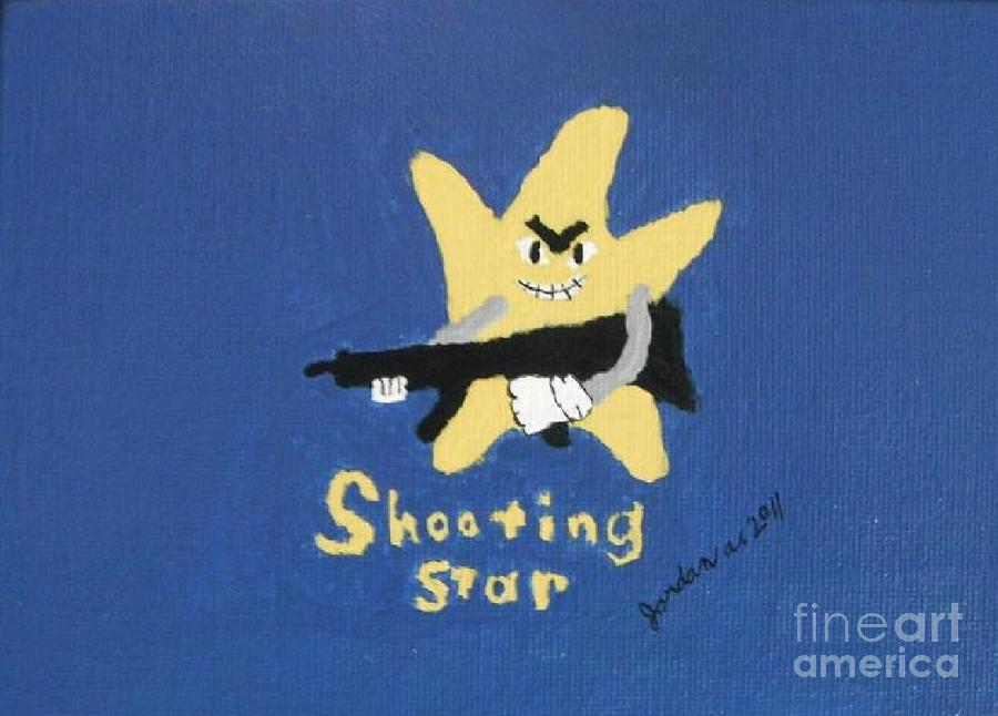 Shooting Star Painting  - Shooting Star Fine Art Print