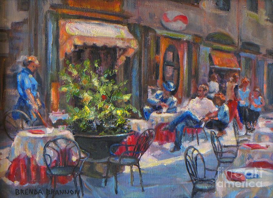Shopping In Cortona Painting