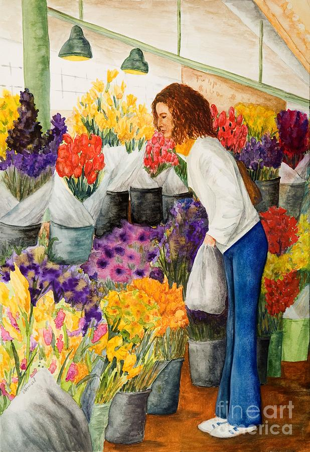 Shopping Pikes Market Painting