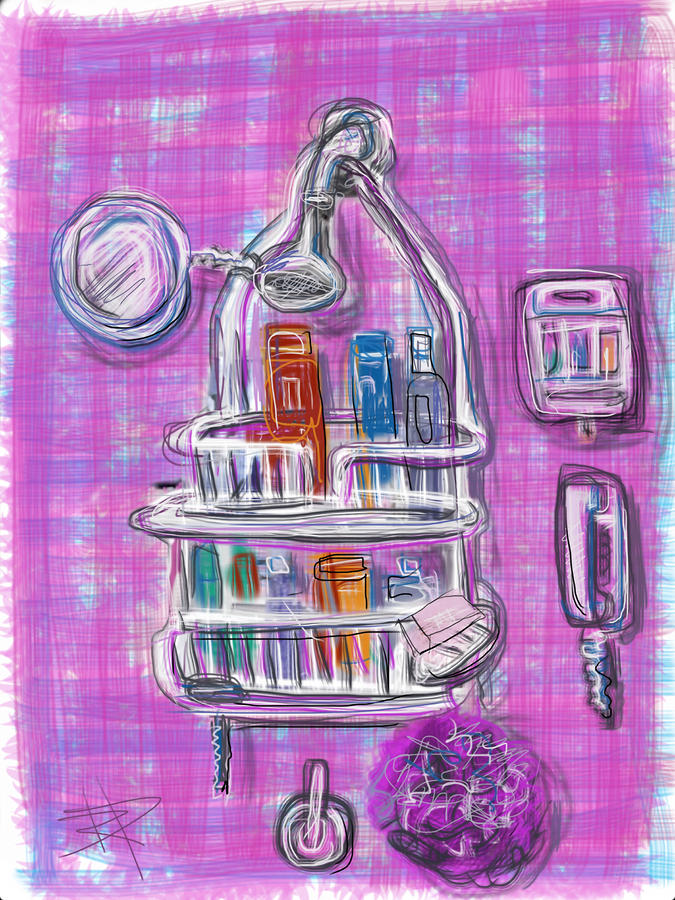 Shower Time Mixed Media  - Shower Time Fine Art Print