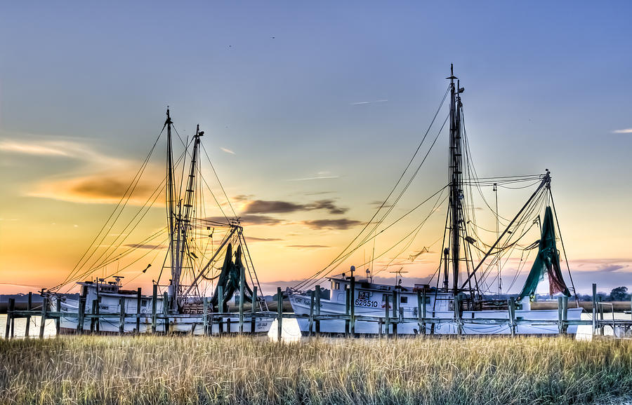 Shrimp Boats Photograph  - Shrimp Boats Fine Art Print