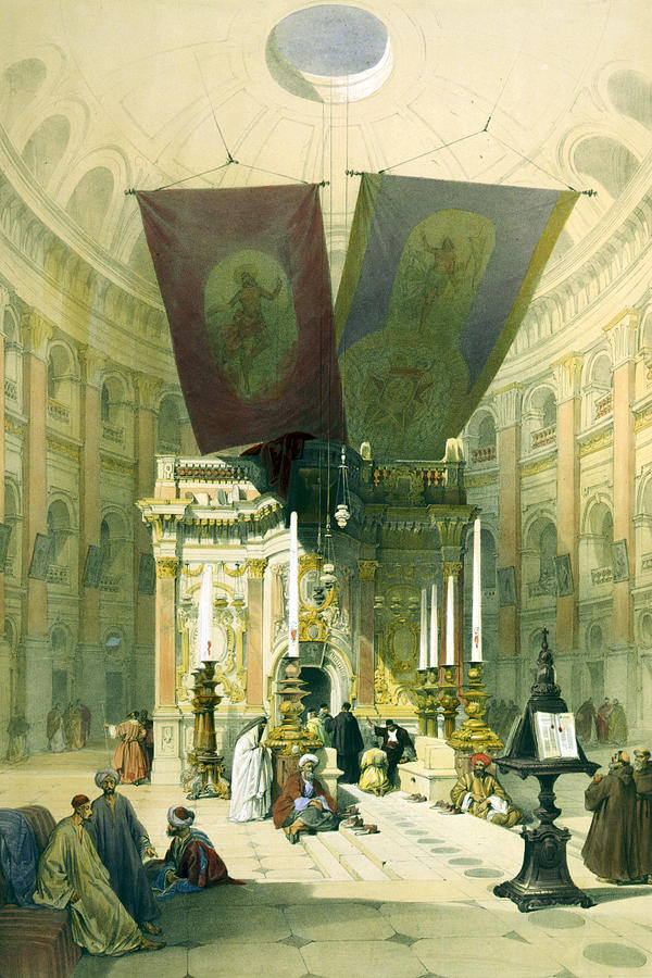 Shrine Of The Holy Sepulchre April 10th 1839 Photograph  - Shrine Of The Holy Sepulchre April 10th 1839 Fine Art Print