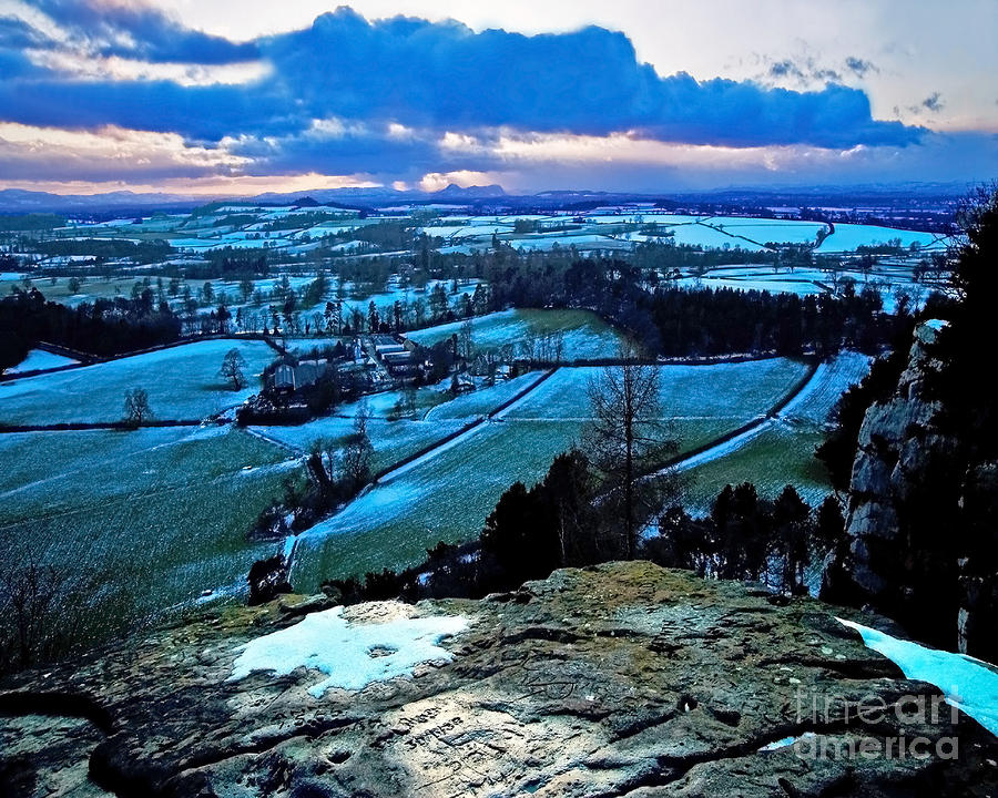 Shropshire Winter Sunset Scene Photograph  - Shropshire Winter Sunset Scene Fine Art Print