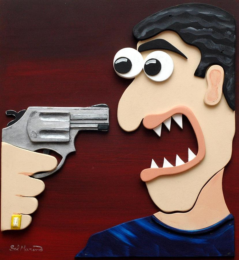 Shut Up Painting  - Shut Up Fine Art Print