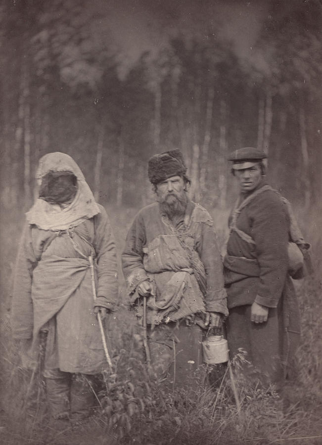 Siberia, Three Escaped Convicts Photograph  - Siberia, Three Escaped Convicts Fine Art Print