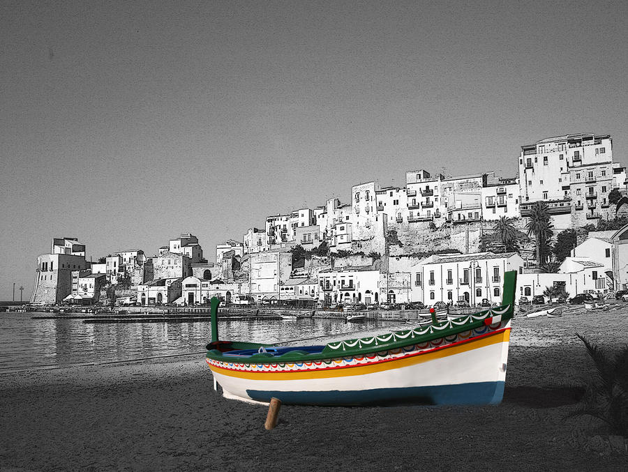 Sicily Fishing Boat  Photograph  - Sicily Fishing Boat  Fine Art Print