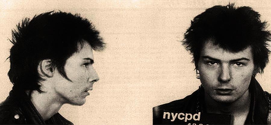 Sid Vicious Mugshot Photograph