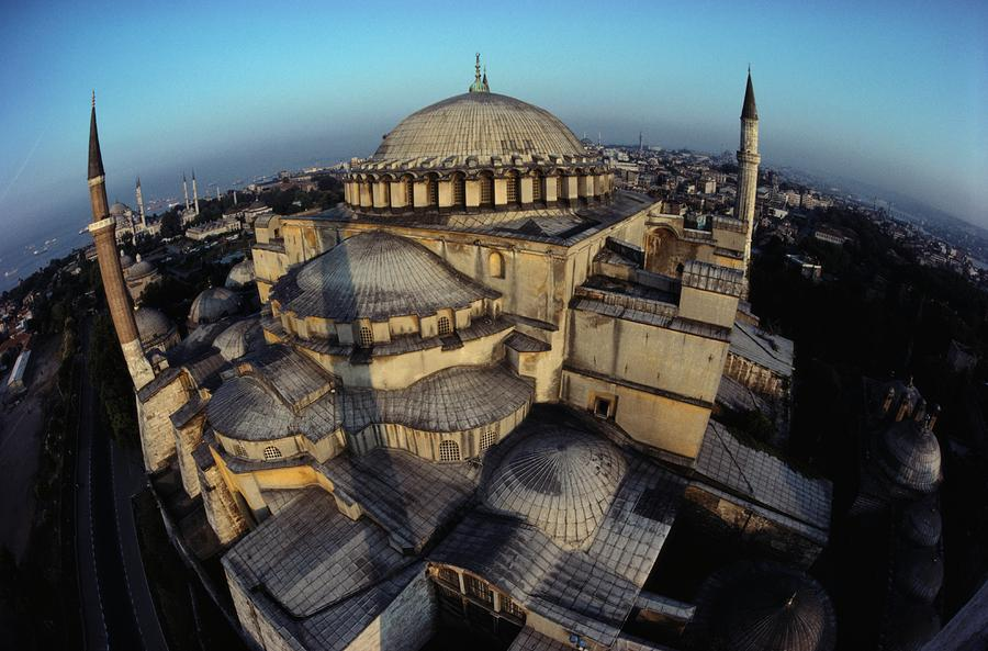 Side Domes And Minarets Gather Photograph