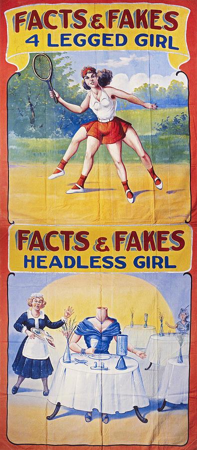 Sideshow Poster, C1975 Photograph